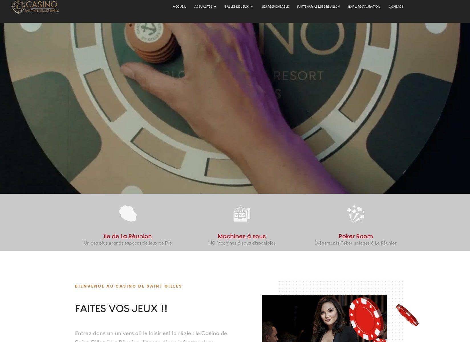 site web du Casino de Saint Gilles